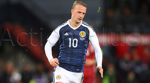 29.03.2016. Hampden Park, Glasgow, Scotland. International Football Friendly Scotland versus Denmark.  Leigh Griffiths