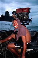 Longtail boat captain. AoNang (Krabi province) - Thailand.