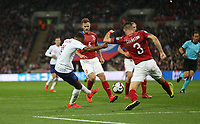 England's Raheem Sterling scores his side's third goal <br /> <br /> Photographer Rob Newell/CameraSport<br /> <br /> UEFA Euro 2020 Qualifying round - Group A - England v Czech Republic - Friday 22nd March 2019 - Wembley Stadium - London<br /> <br /> World Copyright © 2019 CameraSport. All rights reserved. 43 Linden Ave. Countesthorpe. Leicester. England. LE8 5PG - Tel: +44 (0) 116 277 4147 - admin@camerasport.com - www.camerasport.com
