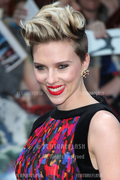 Scarlett Johansson arriving for the Avengers: Age Of Ultron premiere, at Westfield Shepherd's Bush, London. 21/04/2015 Picture by: Alexandra Glen / Featureflash
