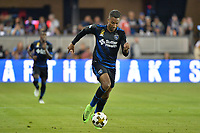 San Jose, CA - Saturday September 16, 2017: Danny Hoesen during a Major League Soccer (MLS) match between the San Jose Earthquakes and the Houston Dynamo at Avaya Stadium.