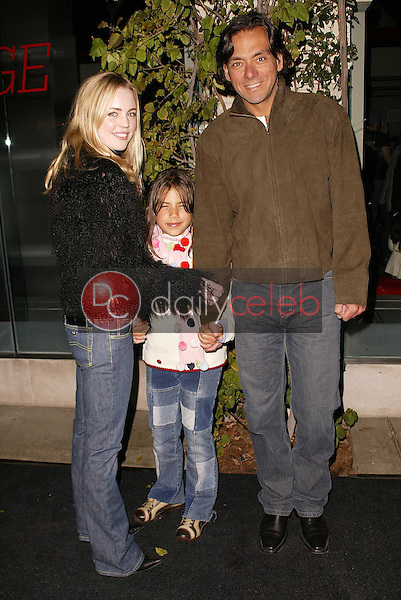 Melissa George, husband Claudio and step daughter Martina