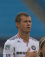 Chicago Fire forward Brian McBride (20). The Chicago Fire defeated the New England Revolution, 1-0, at Gillette Stadium on June 27, 2010.