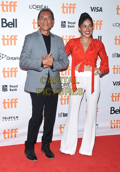 11 September 2017 - Toronto, Ontario Canada - Wes Studi, Q'orianka Kilcher. 2017 Toronto International Film Festival - &quot;Hostiles&quot; Premiere held at Princess of Wales Theatre. <br /> CAP/ADM/BPC<br /> &copy;BPC/ADM/Capital Pictures