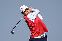 Ariya Jutanugarn (THA) watches her tee shot on 2 during the round 3 of the Volunteers of America Texas Classic, the Old American Golf Club, The Colony, Texas, USA. 10/5/2019.<br /> Picture: Golffile   Ken Murray<br /> <br /> <br /> All photo usage must carry mandatory copyright credit (© Golffile   Ken Murray)