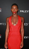 NEW YORK, NY - OCTOBER 6: Michaela Coel at Paleyfest NY 2017 Presents Black Mirror at The Paley Center for Media in New York October 06,  2017.<br /> CAP/MPI/RW<br /> &copy;RW/MPI/Capital Pictures