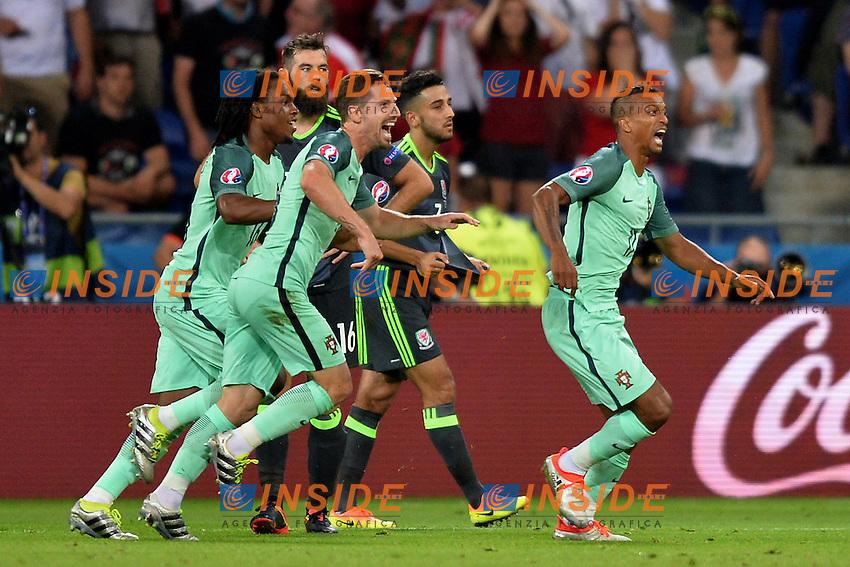 Nani (por)  esultanza gol goal celebration<br /> Lyon 06-07-2016 Stade de Lyon Football Euro2016 Portugal - Wales / Portogallo - Galles Semi-finals / Semifinali <br /> Foto Anthony BIBARD Panoramic / Insidefoto