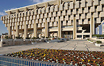 A view of Israel's central bank, &quot;Bank Israel&quot;, in Jerusalem, Israel.<br />