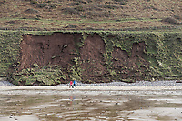 Pictured: The landslide by Rhossili beach. Tuesday 18 February 2020<br /> Re: General view of Rhossili in the Gower Peninsula near Swansea, Wales, UK.