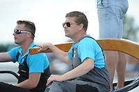ZEILEN: GROU: Pikmar, De Tynje, Wide Ie, 30-07-2016, SKS skûtsjesilen, openingswedstrijd, vervangend schipper Klaas van der Meulen (Woudsend), ©foto Martin de Jong