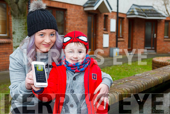 Lisa Curran with her son Christopher who has Autism. Lisa is taking part in a skydive and Through Their Eyes Snapchat campaign for Autism Ireland.