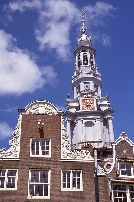 Pays Bas/Amsterdam/ Zuiderderk/Clocher
