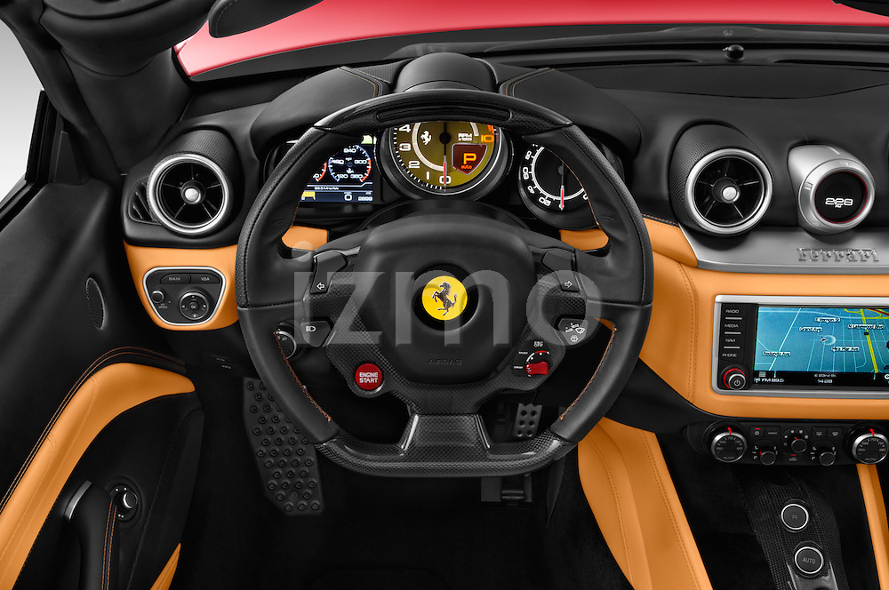 Car pictures of steering wheel view of a 2015 Ferrari California T 2 Door Convertible Steering Wheel