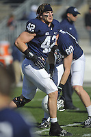 17 November 2012:  Penn State LB Michael Mauti (42).  The Penn State Nittany Lions vs. the Indiana Hoosiers at Beaver Stadium in State College, PA.