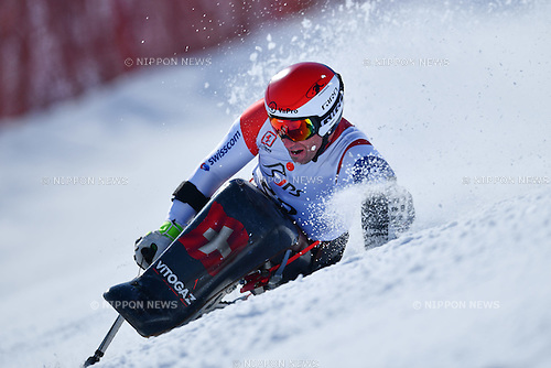 Christoph Kunz (SUI), <br /> MARCH 5, 2017 - Alpine Skiing :<br /> IPC Alpine World Cup Hakuba,<br /> Men's Giant Slalom <br /> Sitting LW10-1 <br /> at Hakuba Happo One, Nagano Japan.<br /> (Photo by AFLO SPORT)