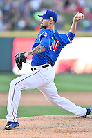 Round Rock pitcher Anthony Ranaudo (50)  delivers a pitch during a baseball game, Saturday May 02, 2015 in Round Rock, Tex. Express defeated Sounds 5-4. (Mo Khursheed/TFV Media via AP images)