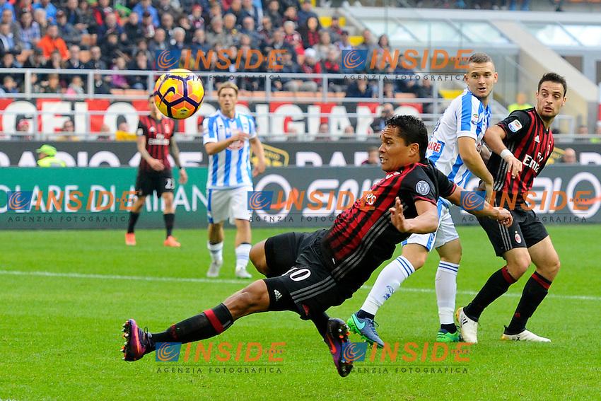 Occasione gol di Carlos Bacca Milan<br /> Milano 30-10-2016 Stadio Giuseppe Meazza - Football Calcio Serie A Milan - Pescara. Foto Giuseppe Celeste / Insidefoto