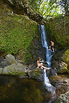Makamaka'ole falls is the only waterfall located on the North Shore of West Maui.
