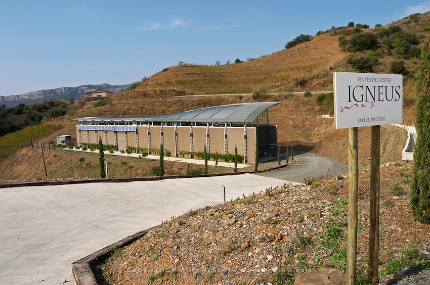 Winery building. Mas Igneus, Gratallops, Priorato, Catalonia, Spain.