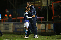 Barrow manager Ian Evatt congratulates Tyler Smith during Braintree Town vs Barrow, Vanarama National League Football at the IronmongeryDirect Stadium on 1st December 2018