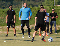 holds a press conference at at CastelVolturno Center at eve of Champions league soccer match against Benfica<br /> <br /> allenamento Napoli alla vigilia della sfida Champions