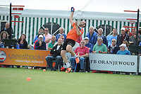 KAATSEN: SINT JACOB: 19-06-2016, Heren Hoofdklasse Vrije formatie winnaar werden Gert-Anne van der Bos, Taeke Triemstra en Daniël Iseger(slaat de bal), ©foto Martin de Jong