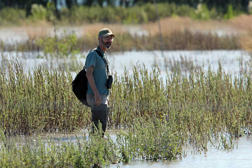 Birdwatcher at Stillhouse Hollow Lake Reservoir.