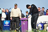 Robert Rock tees off on the 10th hole during the Final Round of the 3 Irish Open on 17th May 2009 (Photo by Eoin Clarke/GOLFFILE)