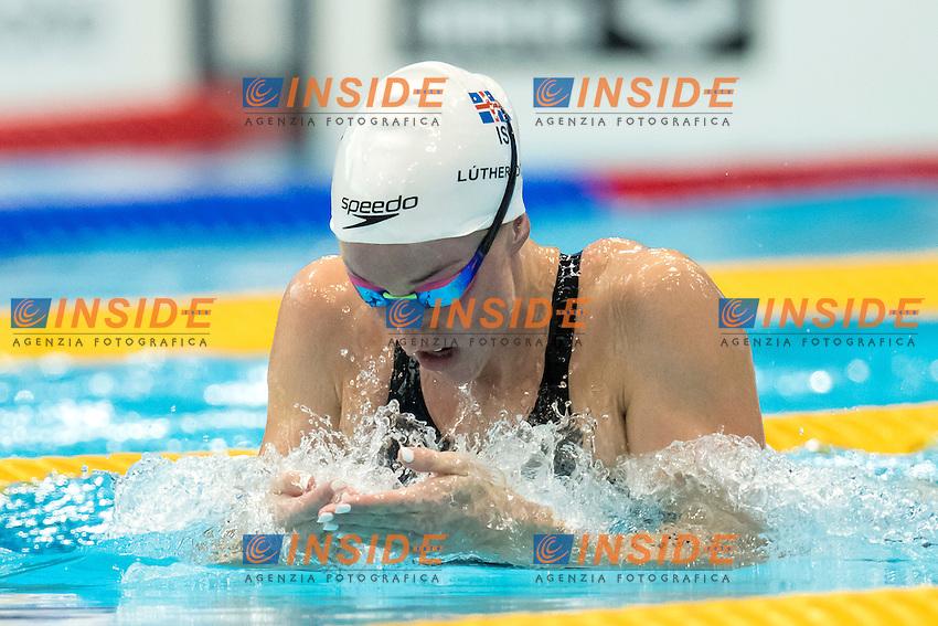 Hrafnhildu LUTHERSDOTTIR ISL <br /> 200m Breaststroke Preliminary <br /> London, Queen Elizabeth II Olympic Park Pool <br /> LEN 2016 European Aquatics Elite Championships <br /> Swimming<br /> Day 11 19-05-2016<br /> Photo Andrea Staccioli/Deepbluemedia/Insidefoto
