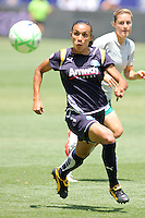 Marta #10 of the Los Angeles Sol chases a loose ball against the St. Louis Athletica during their WPS game at The Home Depot Center on July 8,2009 in Carson, California.  St. Louis defeated the Los Angeles Sol 1-0.