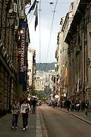 Veduta di Via Balbi a Genova.<br /> View of Via Balbi in Genoa.<br /> UPDATE IMAGES PRESS/Riccardo De Luca