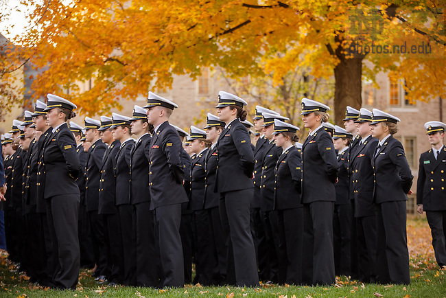 November 9, 2016; Veterans Day 2016. (Photo by Peter Ringenberg/University of Notre Dame)