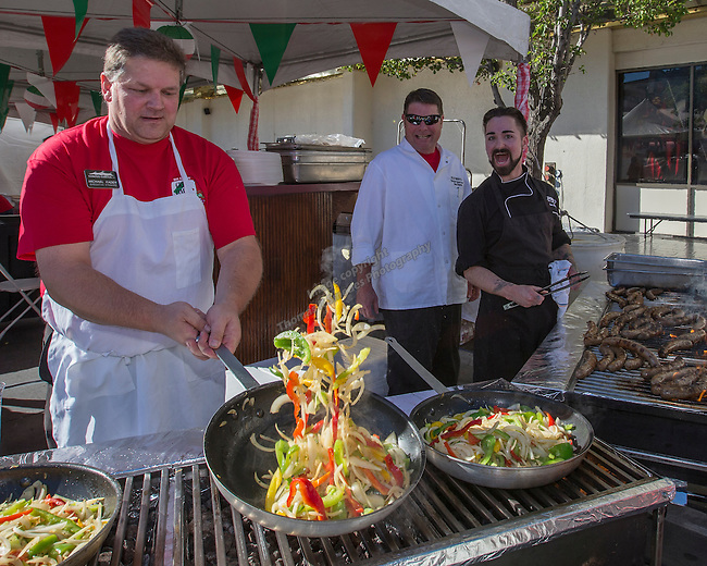 Michael Kaden, Circus Circus cook, tosses vegetables during the 35th Annual Eldorado Great Italian Festival held in downtown Reno on Saturday, October 8, 2016.