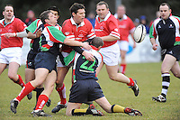 Simon Mason in action during the charity match between the Ulster 1999 XV and a Wooden Spoon Select XV at Shaw's Bridge Belfast.  Mandatory Credit - Photo : Oliver McVeigh