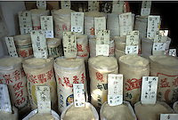 Various rice at a food market in Guangzhou, China.