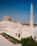 OMAN, Muscat, Sultan Qaboos Grand Mosque, elevated view