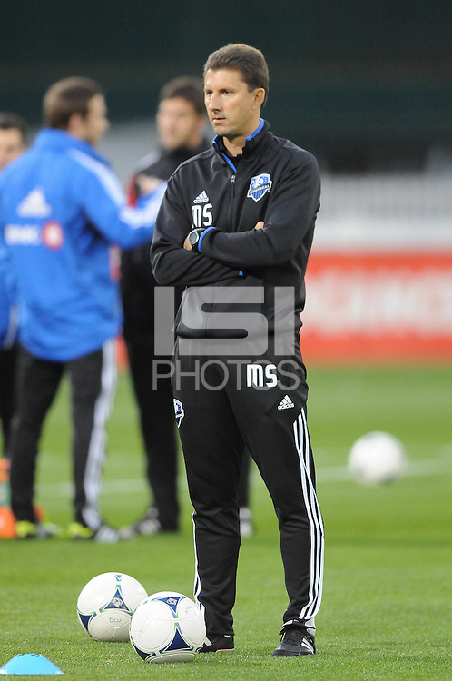 Montreal Impact Assistant Coach Mike Sorber. D.C. United tied The Montreal Impact 1-1, at RFK Stadium, Wednesday April 18 , 2012.