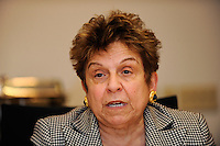 President of the University of Miami Donna Shalala talks during a meeting of members of the USA Bid Committee for the FIFA World Cup in New York, NY on December 15, 2009.