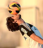 SÃO PAULO,SP, 12 julho 2013 -   Alexandre Pato durante treino do Corinthians no CT Joaquim Grava na zona leste de Sao Paulo, onde o time se prepara  para para enfrenta o Atletico MG pelo campeonato brasileiro . FOTO ALAN MORICI - BRAZIL FOTO PRESS