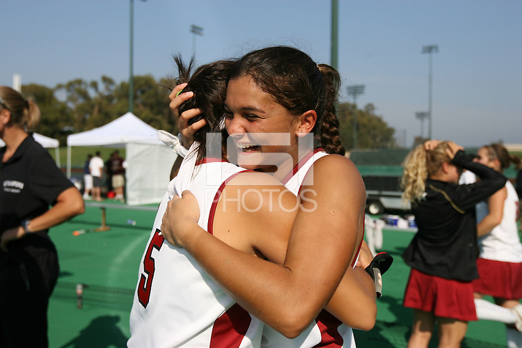 6 November 2007: Stanford Cardinal Camille Gandhi during Stanford's 1-0 win against the Lock Haven Lady Eagles in an NCAA play-in game to advance to the NCAA tournament at the Varsity Field Hockey Turf in Stanford, CA.