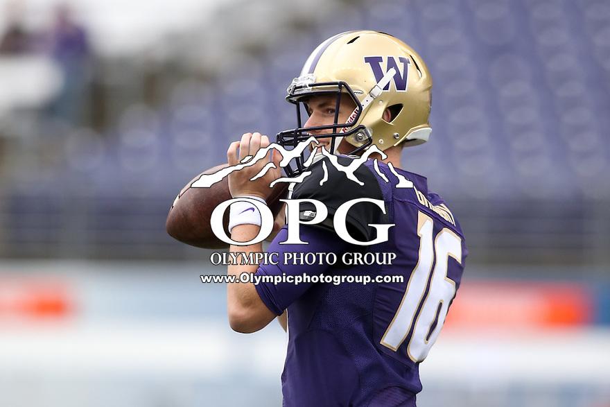 03 September 2016: Washington's Blake Gregory against Rutgers.  Washington defeated Rutgers 48-13 at the University of Washington in Seattle, WA.