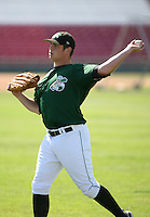Broc Coffman of the Clinton Lumberkings during the Midwest League All-Star game.  Photo by:  Mike Janes/Four Seam Images