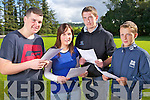 Christopher Casey and Denise O'Connor from Brosna with Mark Harnett and Jamie O'Mahony from Tournafulla who received their Leaving Certificate Results on Thursday in the Vocational School, Abbeyfeale.