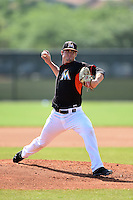 Miami Marlins pitcher Ryan Wertenberger (55) during a minor league spring training intrasquad game on April 2, 2015 at the Roger Dean Complex in Jupiter, Florida.  (Mike Janes/Four Seam Images)