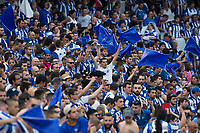 Supporters of Club Deportivo Alaves during the match of  Copa del Rey (King's Cup) Final between Deportivo Alaves and FC Barcelona at Vicente Calderon Stadium in Madrid, May 27, 2017. Spain.. (ALTERPHOTOS/Rodrigo Jimenez) /NortePhoto.com