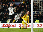 Wayne Rooney of Derby County celebrates scoring the fourth goal from the penalty spot during the FA Cup match at the Pride Park Stadium, Derby. Picture date: 4th February 2020. Picture credit should read: Darren Staples/Sportimage