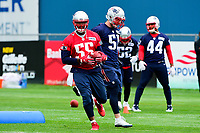 June 7, 2017: New England Patriots linebacker Jonathan Freeny (55) runs through a drill at the New England Patriots mini camp held on the practice field at Gillette Stadium, in Foxborough, Massachusetts. Eric Canha/CSM