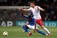 Claud Adjapong of Italy, Szymon Zurkowski of Poland <br /> Bologna 19/06/2019 Stadio Renato Dall'Ara  <br /> Football UEFA Under 21 Championship Italy 2019<br /> Group Stage - Final Tournament Group A<br /> Italy - Poland <br /> Photo Cesare Purini / Insidefoto