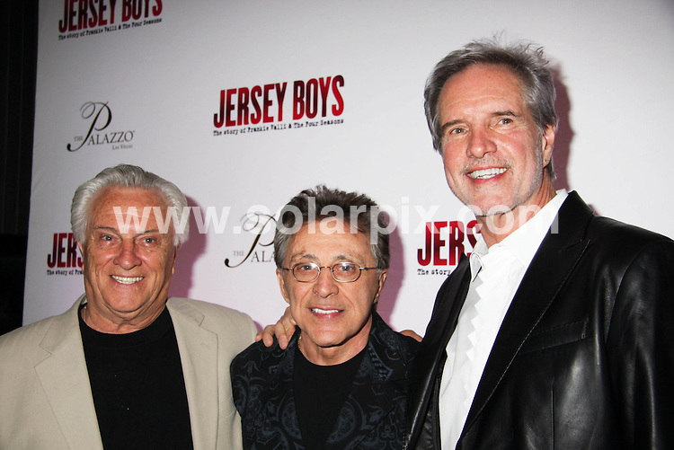 **ALL ROUND PICTURES FROM SOLARPIX.COM**.**SYNDICATION RIGHTS FOR UK, SPAIN, PORTUGAL, AUSTRALIA, S.AFRICA & DUBAI (U.A.E) ONLY**.The Jersey Boys Opens at the Palazzo Hotel and Casino in Las Vegas in Nevada in the USA..This pic:Tommy DeVito, Frankie Valli and Bob Gaudio.JOB REF:6331-PHZ/PRN                DATE:03_05_08 .**MUST CREDIT SOLARPIX.COM OR DOUBLE FEE WILL BE CHARGED* *UNDER NO CIRCUMSTANCES IS THIS IMAGE TO BE REPRODUCED FOR ANY ONLINE EDITION WITHOUT PRIOR PERMISSION*