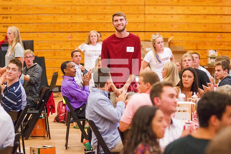 STANFORD, CA - SEPTEMBER 14, 2015--Stanford 2015 New Student-Athlete Orientation at Burnham Pavilion .